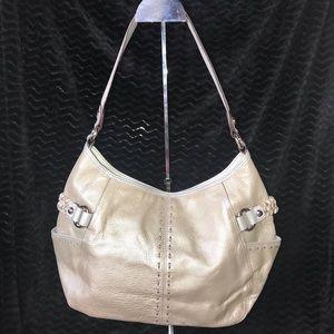 Tignanello silver/gold metallic shoulder bag